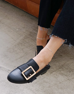 fold square buckle-loafer [Stock]
