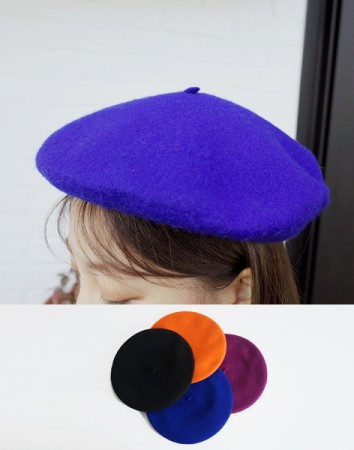 hesitate wool beret-hat